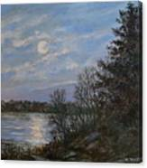 Lake Moonrise Canvas Print