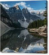 Lake Moraine Reflection Canvas Print