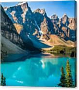 Lake Moraine Valley Of Ten Peaks Canvas Print