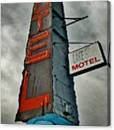 Lake Motel Canvas Print