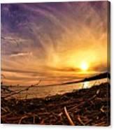 Lake Nipissing Sunset Callander Bay Canvas Print