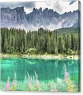 Lake Of Carezza - Italy Canvas Print