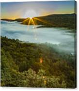Lake Of The Clouds Sunrise Canvas Print