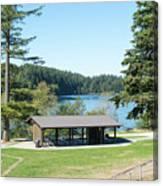 Lake Padden Picnic Shelter Canvas Print