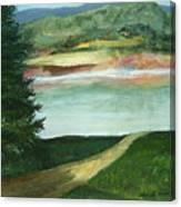 Lake Path Canvas Print