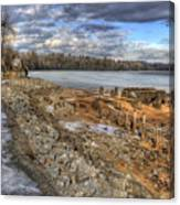 Lake Pend D'oreille At Humbird Ruins 2 Canvas Print