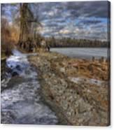 Lake Pend D'oreille At Humbird Ruins Canvas Print