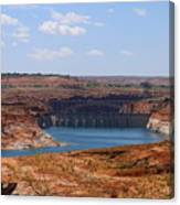 Lake Powell And Glen Canyon Dam Canvas Print