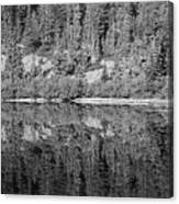 Lake Reflections In Black And White Canvas Print