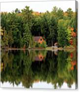 Lake Reflections Panorama 4370 4371 Canvas Print