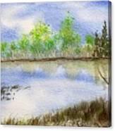 Lake Scene Canvas Print