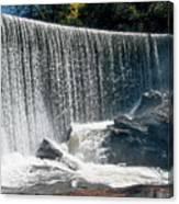 Lake Sequoyah Dam Falls - Highlands, North Carolina Canvas Print
