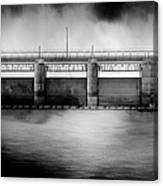 Lake Shelbyville Dam Canvas Print