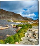 Lake Summit Tundra Path Canvas Print