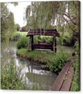 Lake Swing And Bridge Canvas Print
