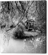 Lake Swing - Black And White Canvas Print