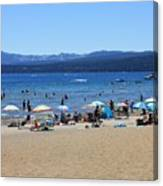 Lake Tahoe Beach Scene Canvas Print