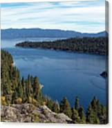 Lake Tahoe Emerald Bay Panorama Canvas Print