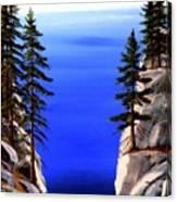 Lake Tahoe Framed Canvas Print