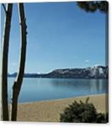Lake Tahoe Incline Village Blue Sky Reflection Canvas Print