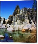 Lake Tahoe- Pyramid Of Rocks Canvas Print