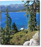 Lake Tahoe With Mountains Canvas Print