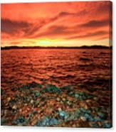 Lake Tahoe...blood Moon Sunset Canvas Print