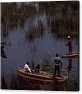 Lake Titicaca Reed Boats Canvas Print