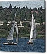 Lake Union Regatta Canvas Print