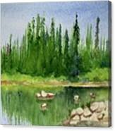 Lake View 1-2 Canvas Print