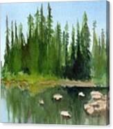Lake View 1 Canvas Print