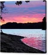 Lake View Sunset Canvas Print