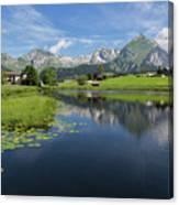 Lake Vorderer Schwendisee Canvas Print