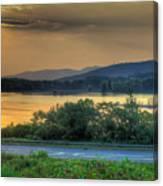 Lake Washington And Route 209 Canvas Print