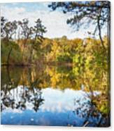 Lake Waterford Fall - Watercolor Fx Canvas Print