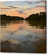 Lake Wedowee Alabama At Sunset Canvas Print