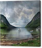 Lake Willoughby  Panorama One Canvas Print
