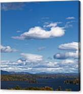 Lake Winnipesaukee New Hampshire In Autumn Canvas Print
