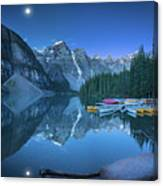 Lake With Moon At Four Am Canvas Print
