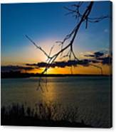 Lakeshore Sunset Canvas Print