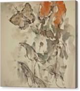 Lakeside Butterflies Canvas Print