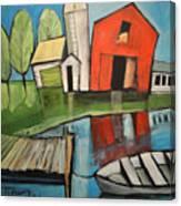Lakeside Farm Canvas Print