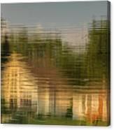 Lakeside Living On Wiggins Lake - Abstract Canvas Print