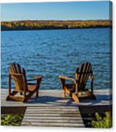 Lakeside Seating For Two Canvas Print