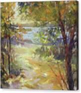 Lakeside Sunglow Canvas Print