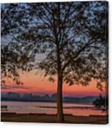 Lakeside Sunrise Canvas Print