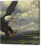 Lakeview Eagle Canvas Print
