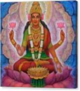 Lakshmi Blessing Canvas Print
