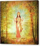 Lakshmi Vision In The Forest  Canvas Print
