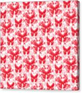 Lalabutterfly Red And White Canvas Print